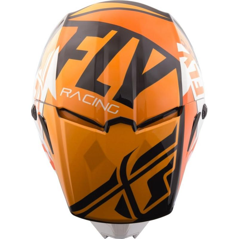 Casque cross Fly Racing Elite Guild noir/orange/blanc - 3
