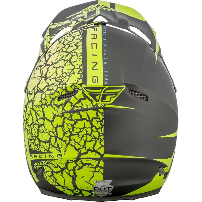 Casque cross Fly Racing F2 Carbon Fracture gris/jaune fluo - 2