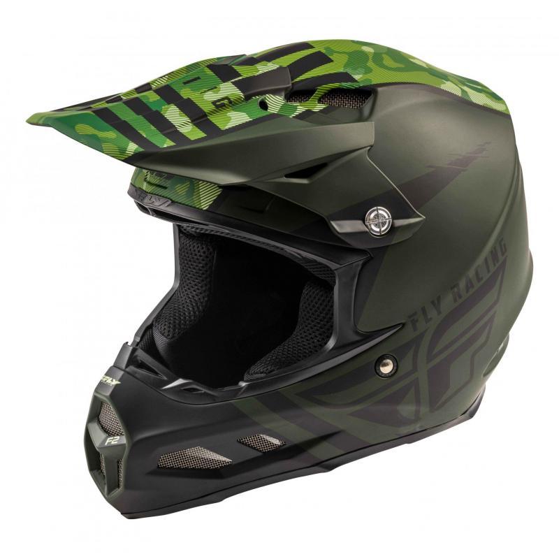 Casque cross Fly Racing F2 Carbon Mips granite vert foncé/noir