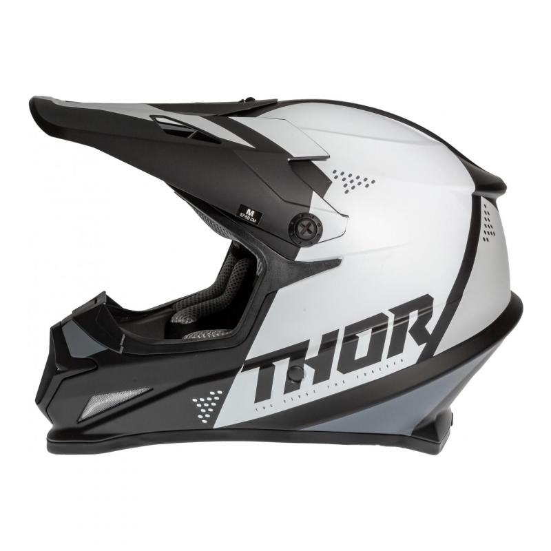 Casque cross Thor Sector Blade noir/blanc - 1
