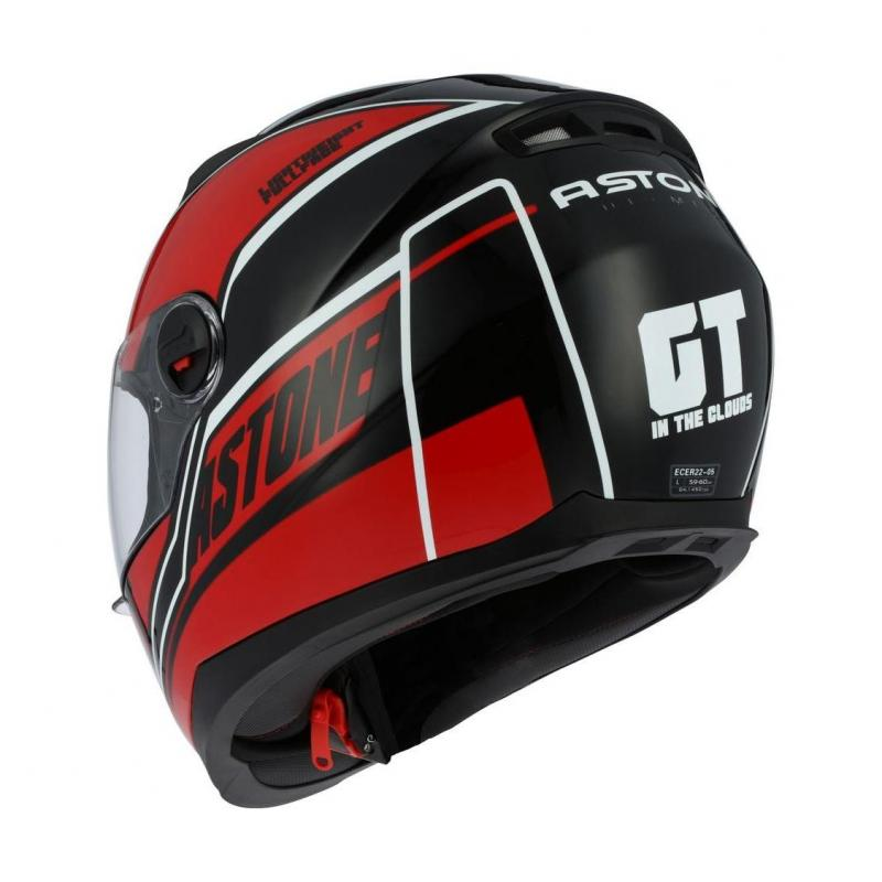 Casque intégral Astone GT2 Graphic CLOUD rouge - 1