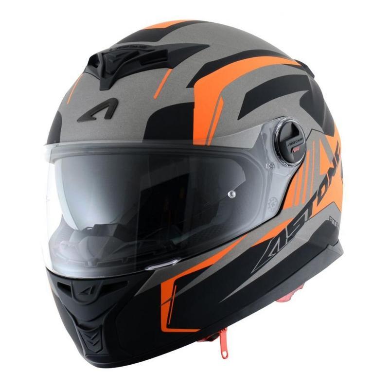 Casque intégral Astone GT800 exclusive DRONE noir/orange fluo