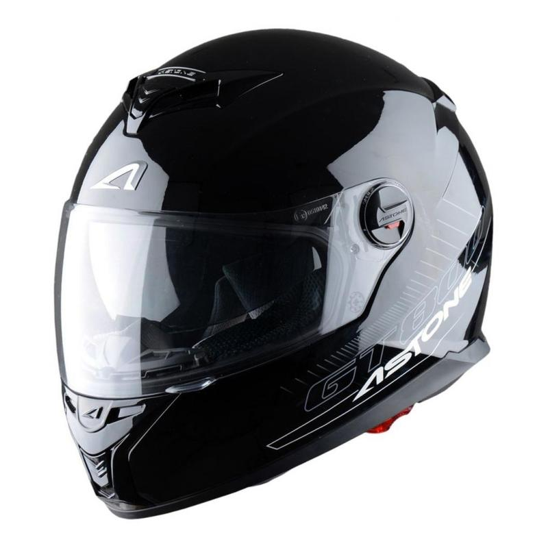 Casque Intégral Astone Gt800 Solid Exclusive noir gloss