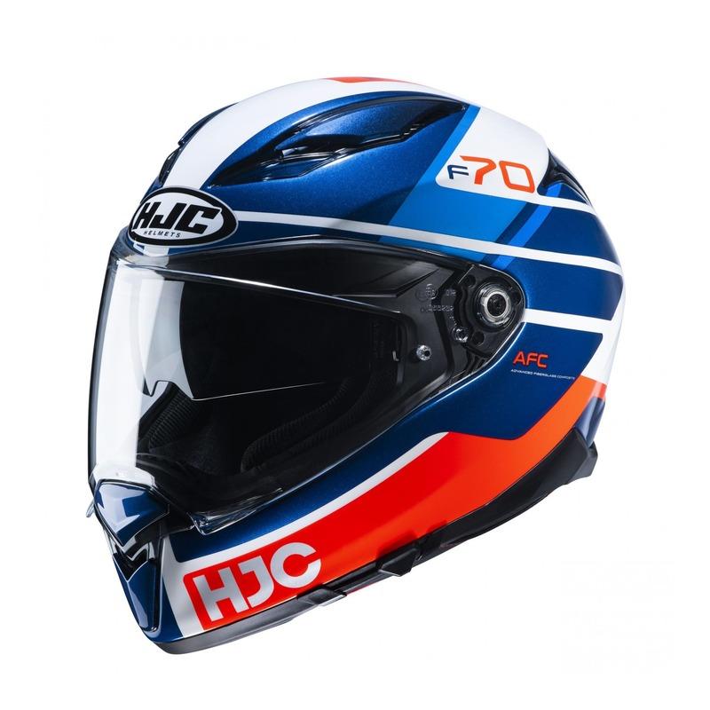 Casque intégral HJC F70 Tino MC21 orange/bleu/blanc