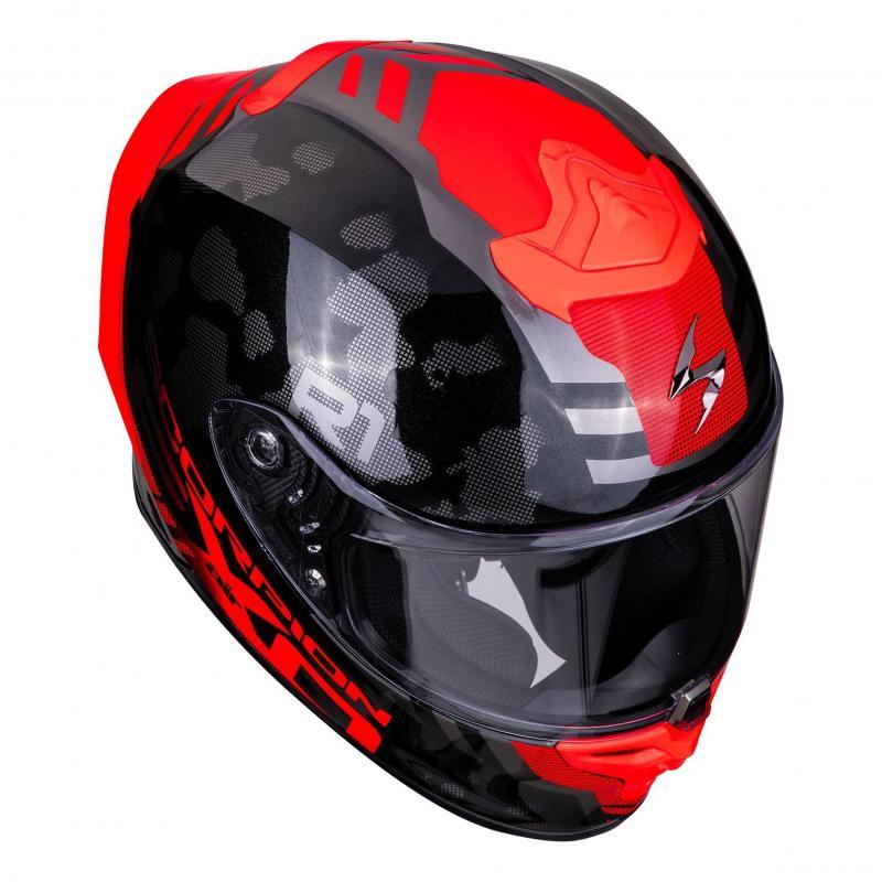 Casque intégral Scorpion Exo-R1 Air Ogi noir/rouge - 2