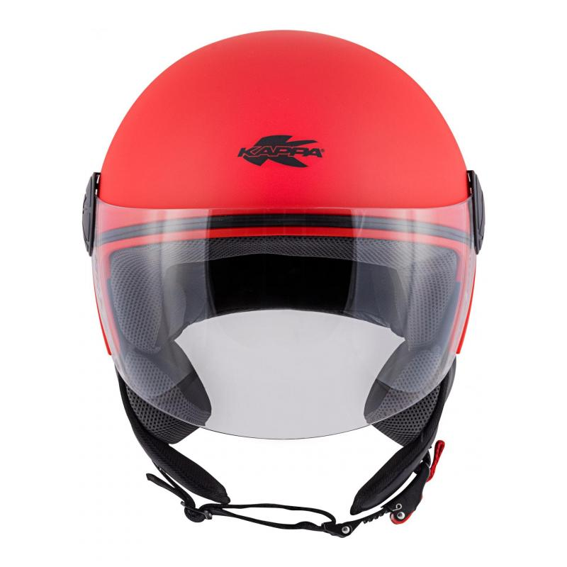 Casque jet Kappa KV40 Hawaii Basic rouge mat - 2