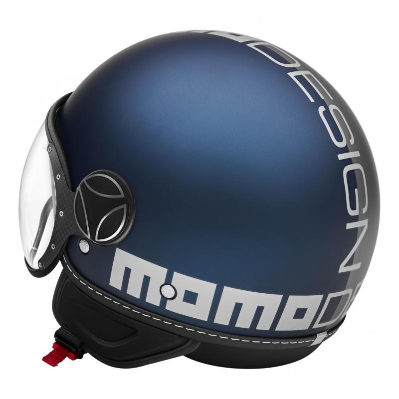 Casque jet Momo Design FGTR Evo Joker bleu mat/gris clair - 2