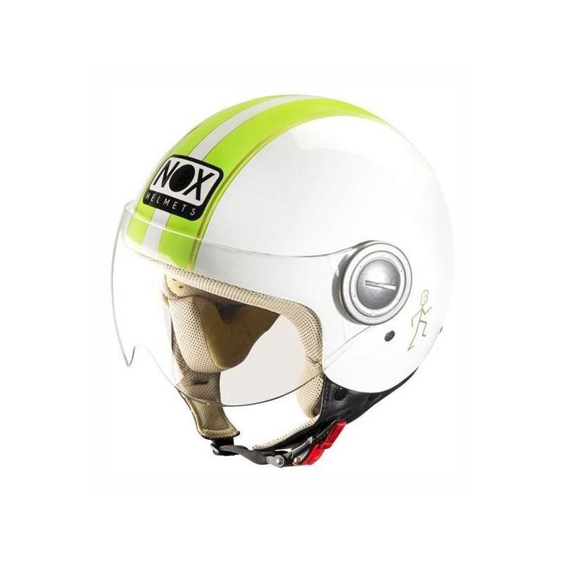 Casque jet Nox N210 blanc/vert