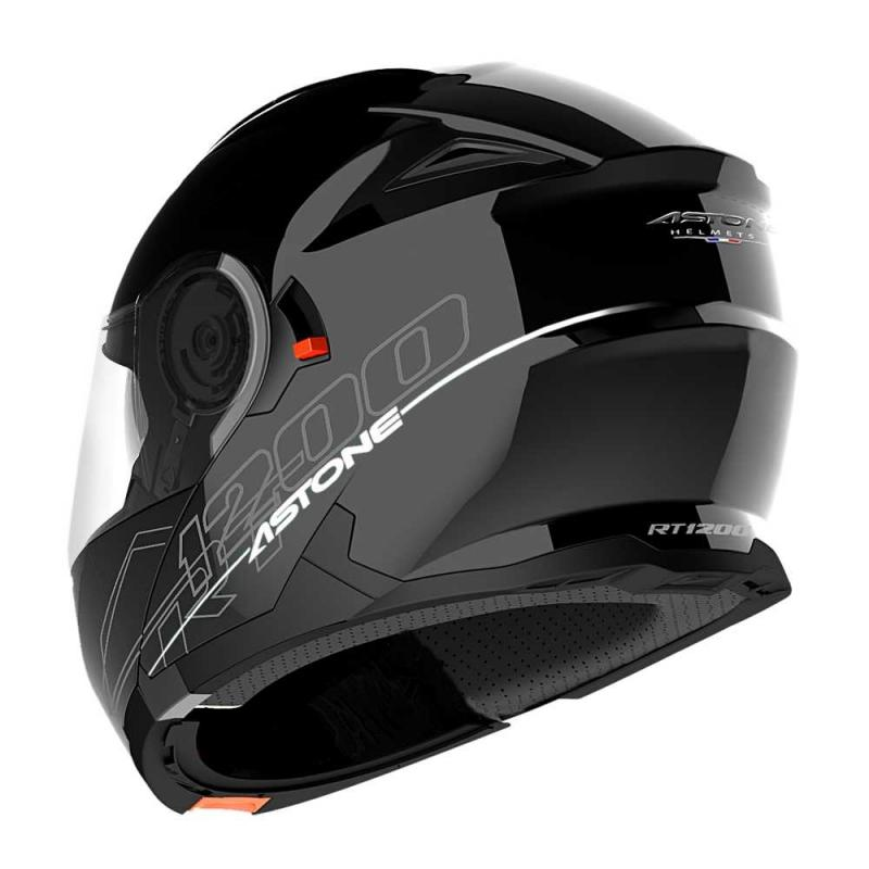 Casque Modulable Astone Rt 1200 Mono noir gloss - 1