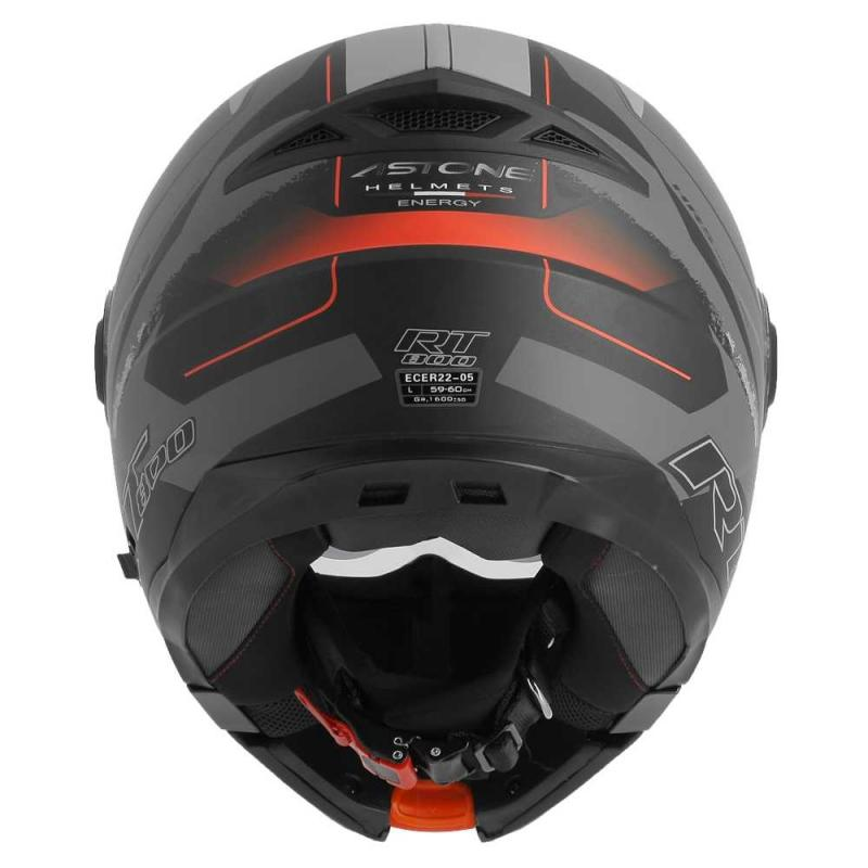 Casque modulable Astone RT800 exclusive ENERGY mat noir/rouge - 3