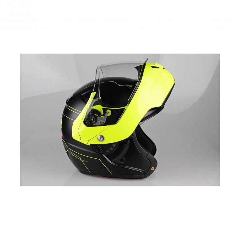 Casque modulable Lazer MONACO EVO Droid Pure Glass noir mat/jaune fluo - 3