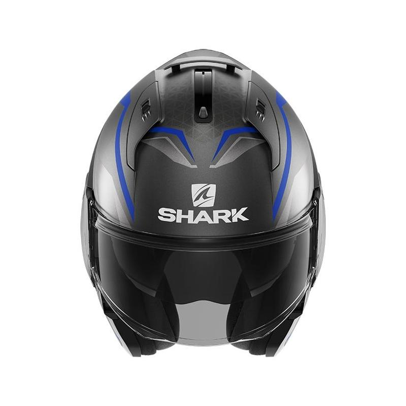 Casque modulable Shark EVO ES Yari Mat anthracite/bleu/argent - 4