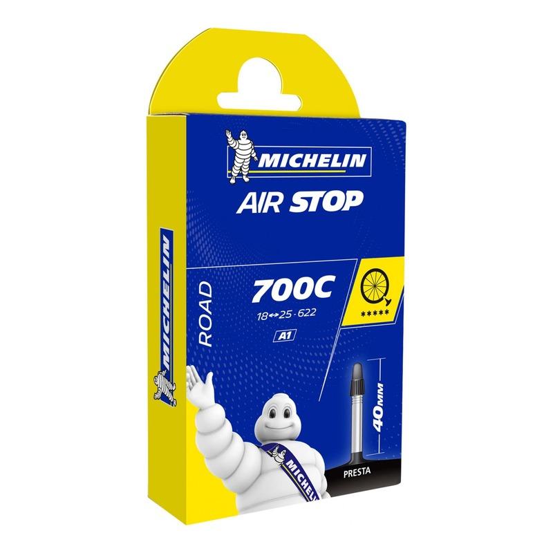 Chambre à air vélo Michelin Air Stop 700 x 18/25C A1 Presta 40mm
