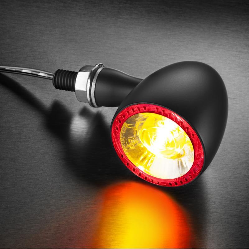 Clignotant LED Kellermann Bullet 1000 DF noir avec feu stop et feu arrière intégrés - 2