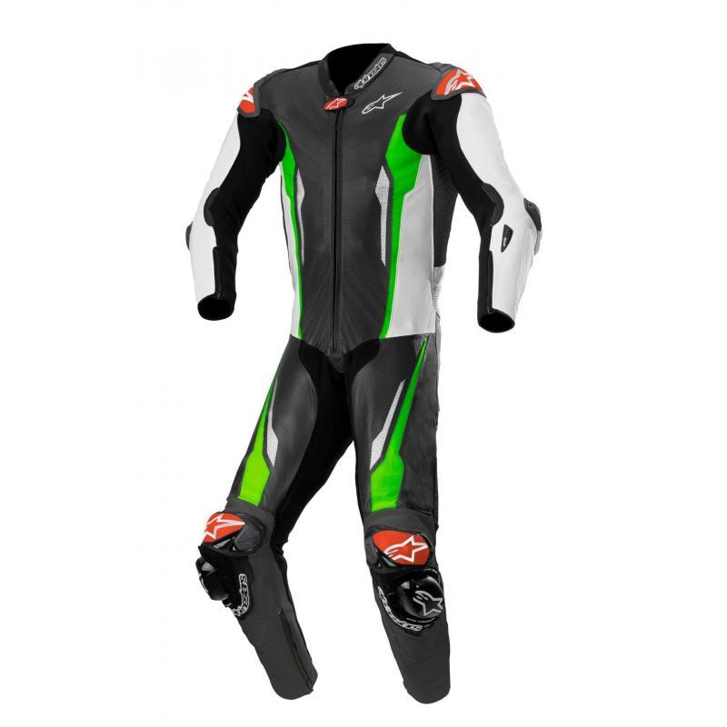 Combinaison 1 pièce Alpinestars Racing Absolute compatible Tech-Air noir/blanc/vert fluo