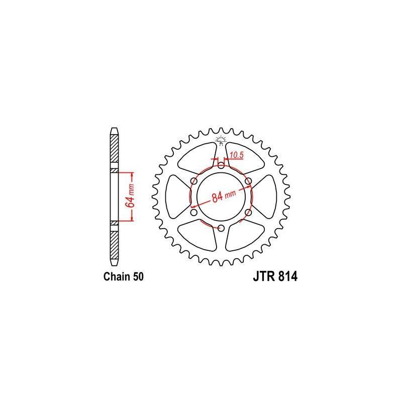 Couronne JT Sprockets Acier pas 530 44 dents - Pour Suzuki GSX 400 80-84