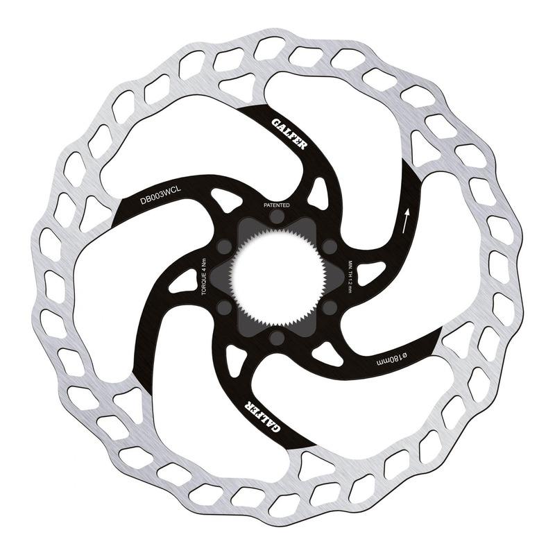 Disque de frein vélo Galfer Wave Fixe Ø180mm (verrouillage central)