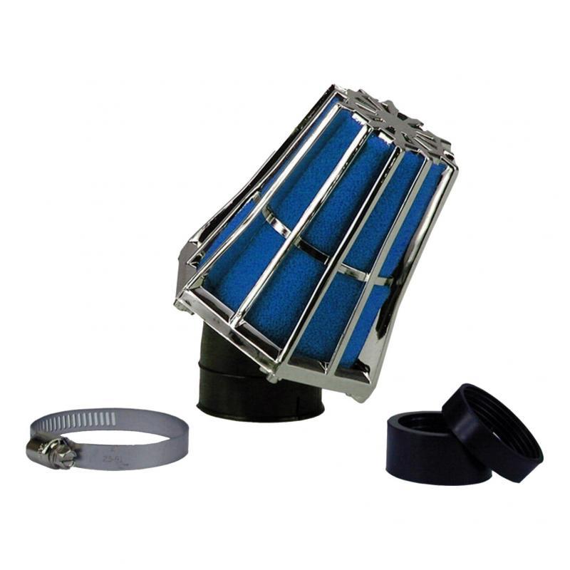 Filtre à air Hexagonal fixation à 30° D.28-35 mousse Bleue