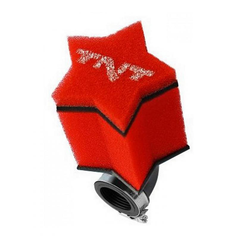Filtre à air TNT Mousse Star 90° Ø28/35 Rouge