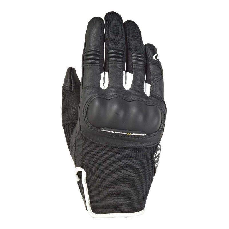 Gants été textile/cuir femme Ixon RS Grip 2 Lady noir/blanc