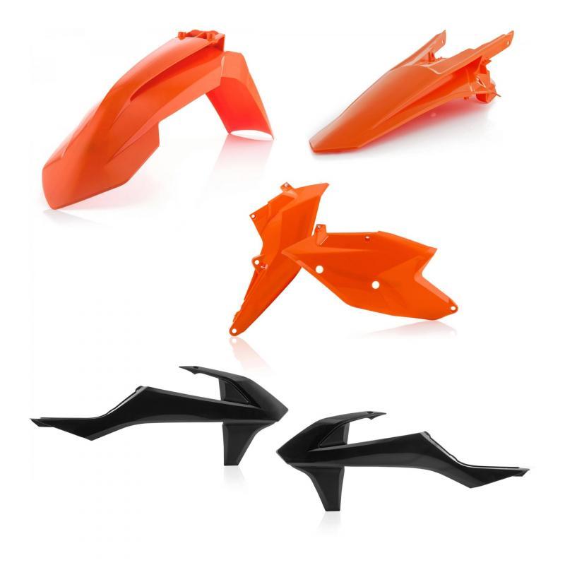 Kit plastique Acerbis KTM EXC 150 TPI 2019 noir/orange (couleur origine 19)