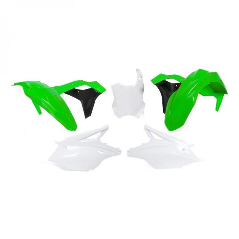 Kit plastique RTech Kawasaki 250 KX-F 17-20 vert/blanc/noir (couleur OEM 17-18)