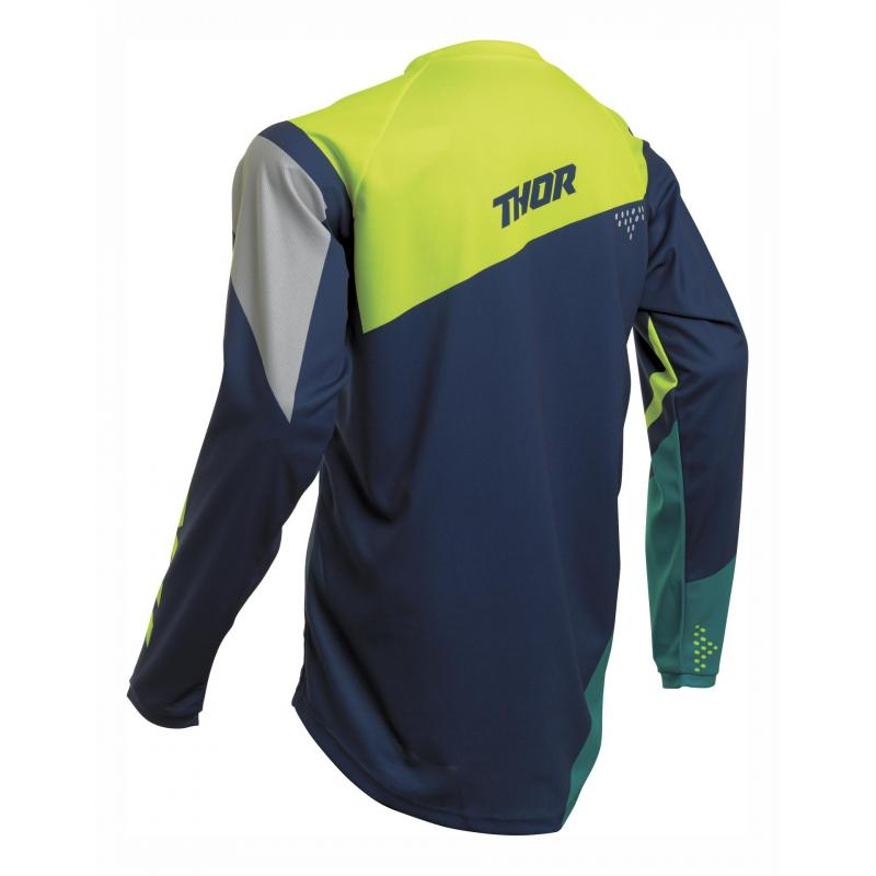 Maillot cross Thor Sector Blade navy/acid - 1