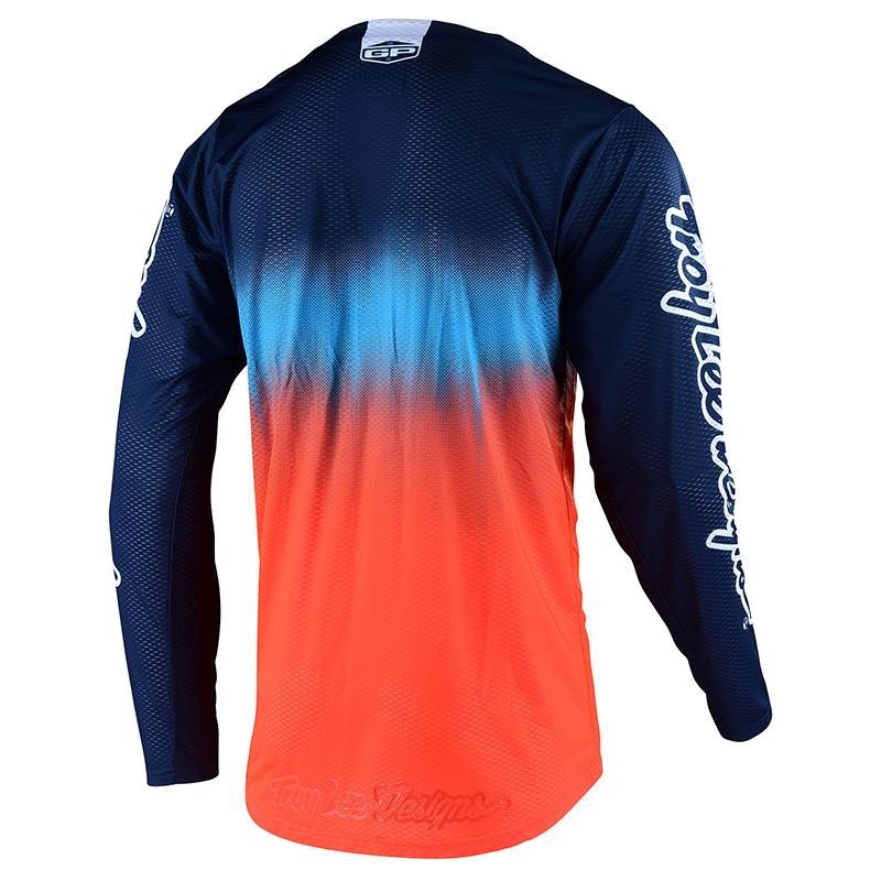 Maillot cross Troy Lee Designs GP Air Stain'd Team KTM bleu/orange - 1
