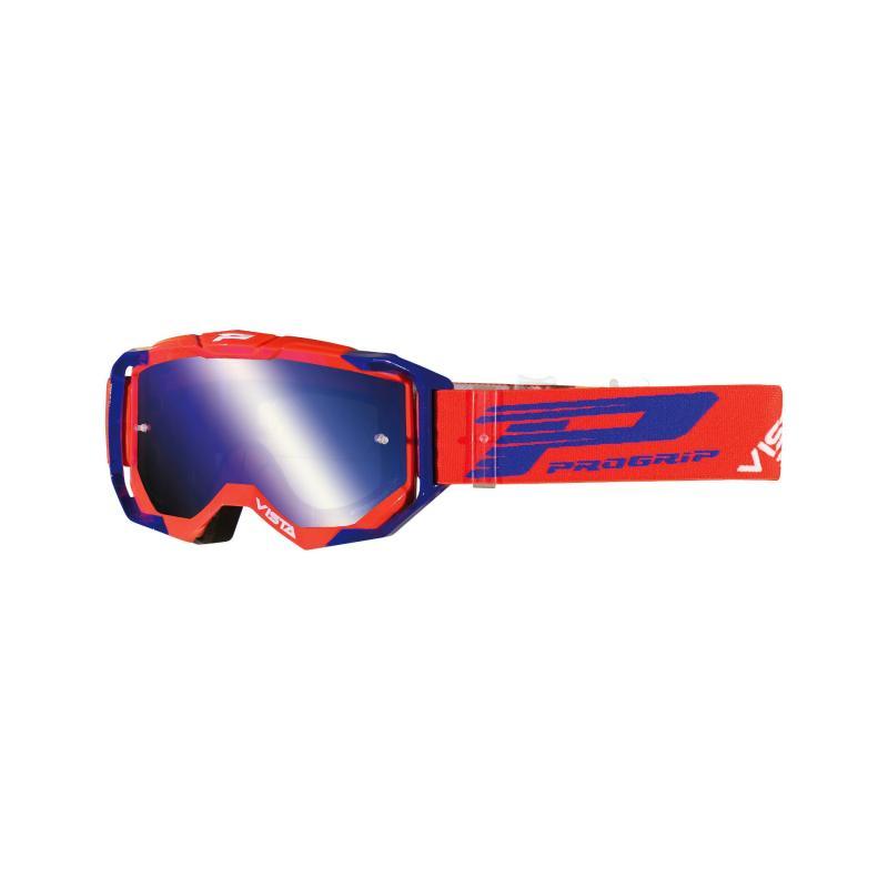 Masque cross Progrip 3303 FL Vista MX America rouge/bleu écran miroir bleu