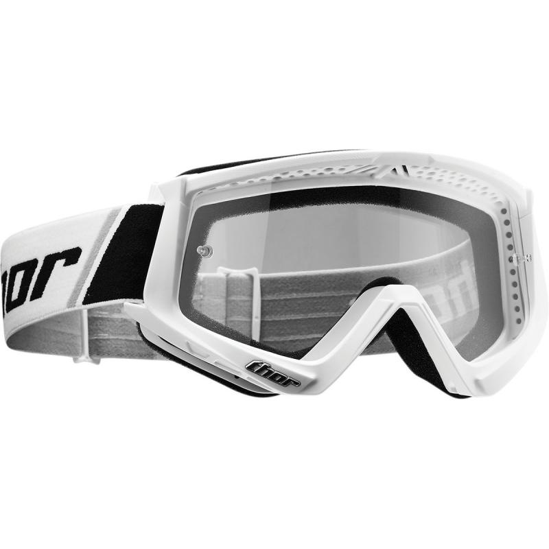 Masque cross Thor Combat blanc/noir