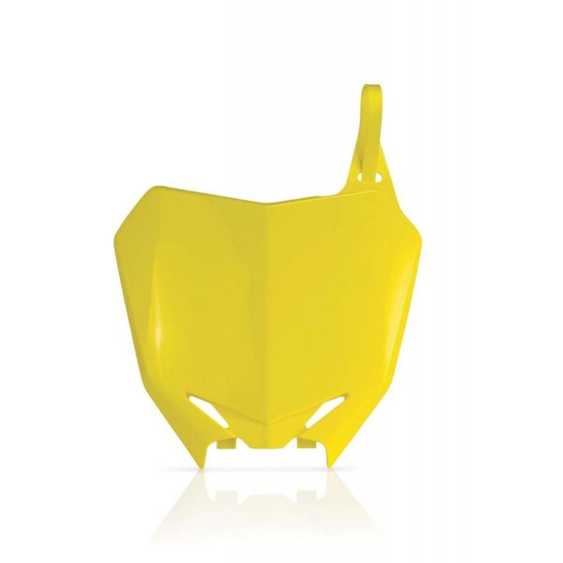 Plaque numéro frontale Acerbis Suzuki 250 RMZ 10-17 jaune