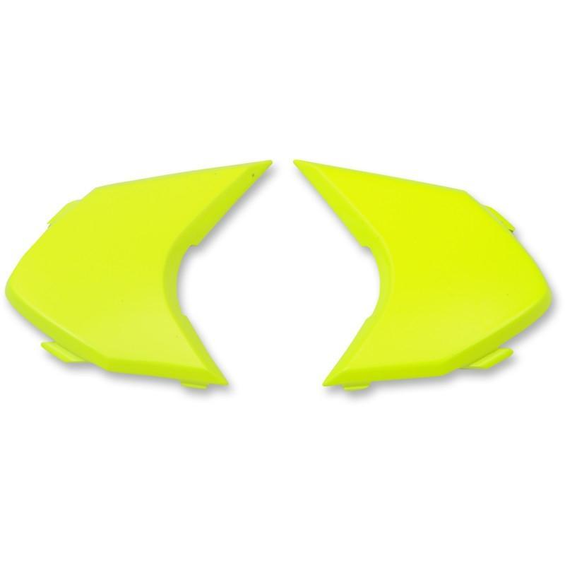 Plaques latérales Icon pour casque Variante Double Stack jaune fluo