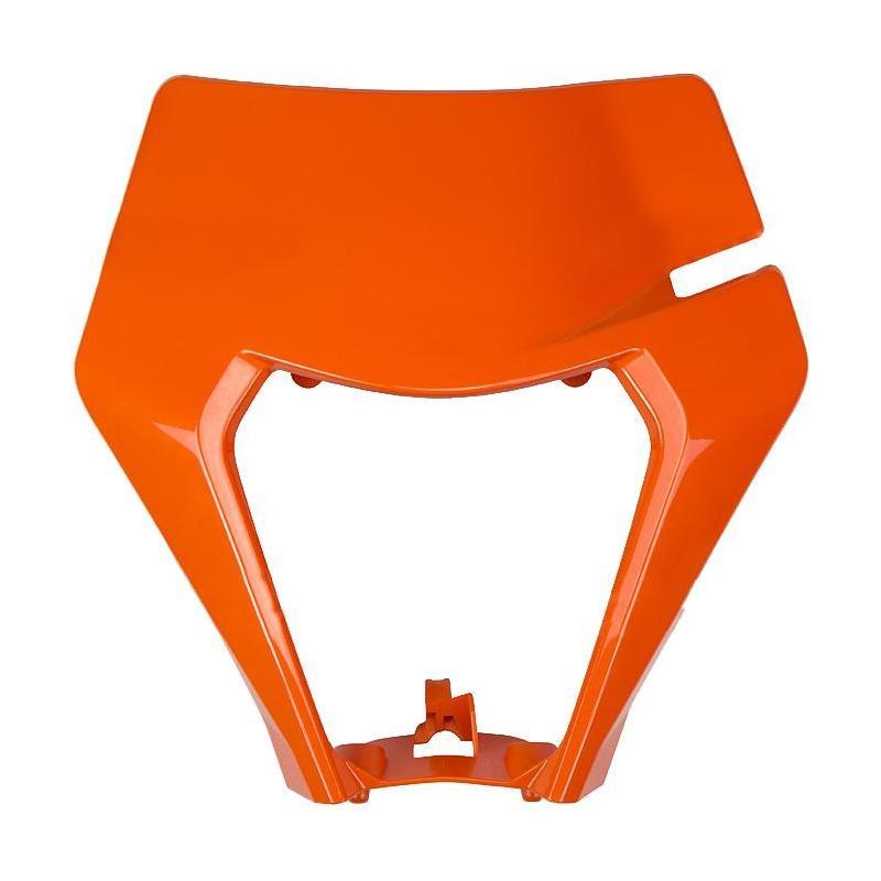Plastique plaque phare UFO KTM 150 EXC TPI 2020 orange