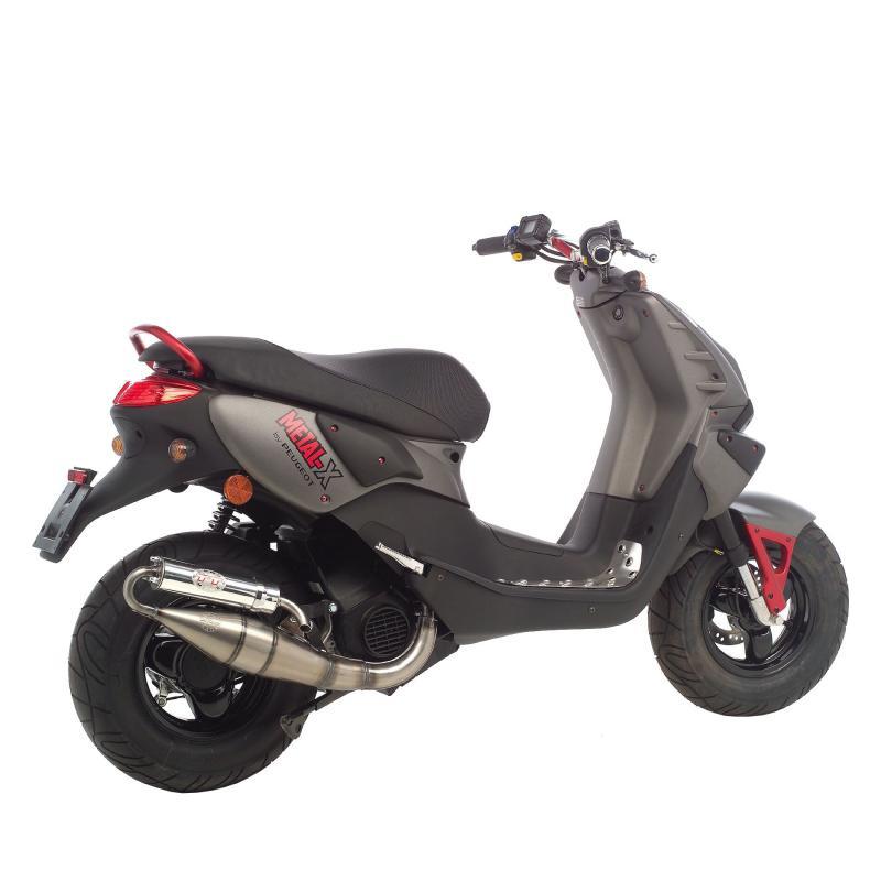 Pot d'échappement scooter Leovince Hand Made TT pour Peugeot Metal-X 50 03-17