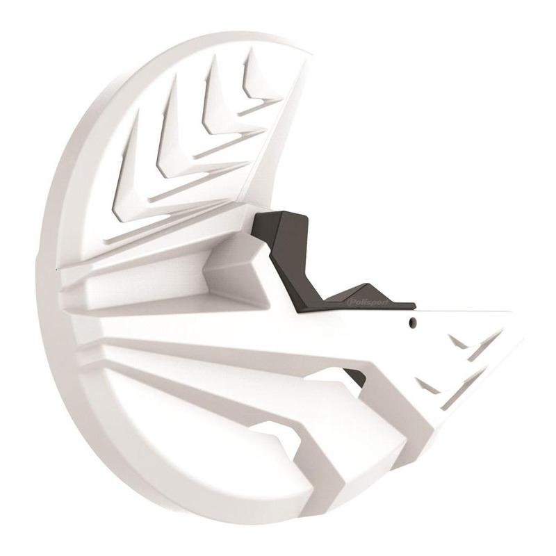 Protection disque avant + bas de fourche Polisport Kawasaki 250 KX 2019 blanc