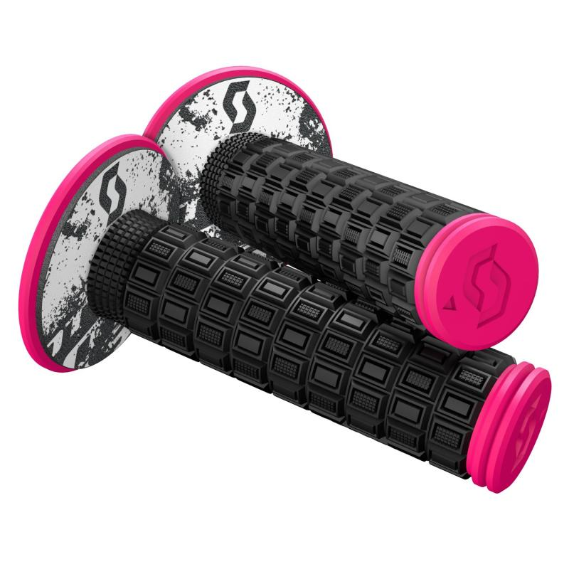 Revêtements de poignées Scott Mellow avec donuts noir/rose