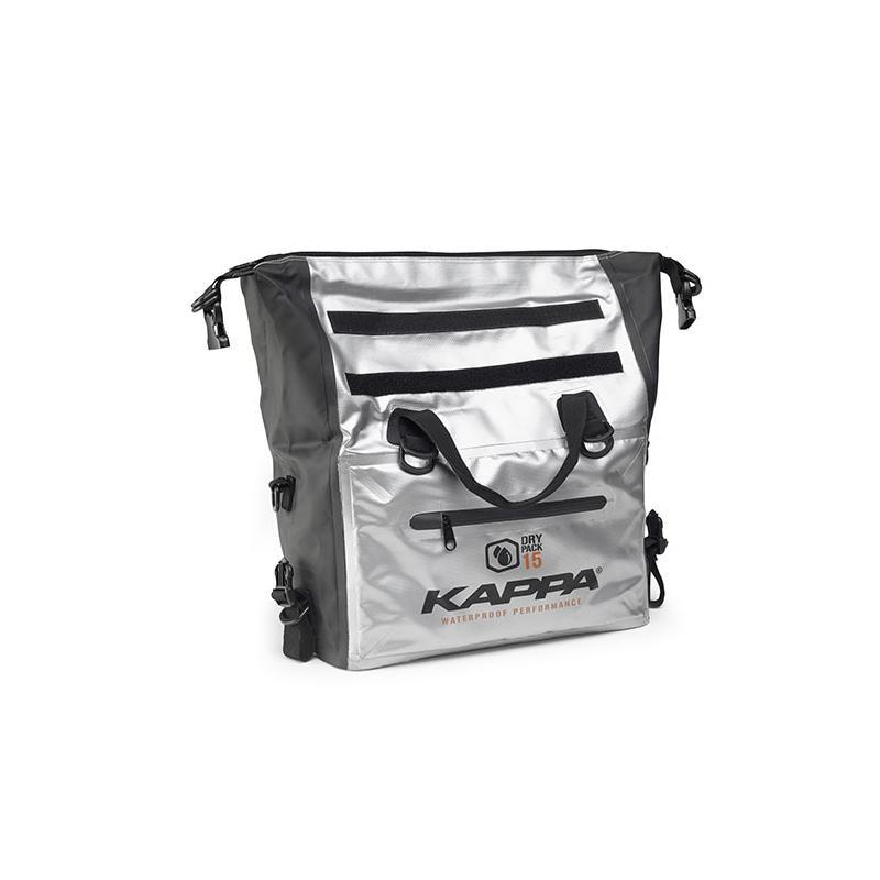 Sac cargo étanche Kappa WA406S 15 Litres noir/argent - 1