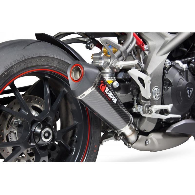 Silencieux Scorpion Serket Taper carbone Triumph Speed Triple 1050 16-17 - 2