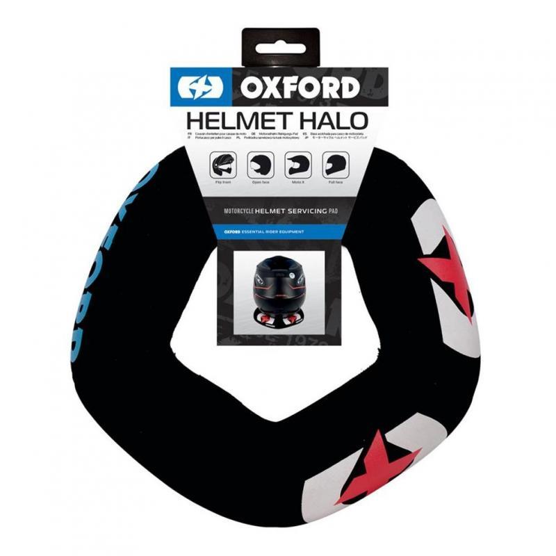 Support de casque Oxfort coussin noir/rouge - 1