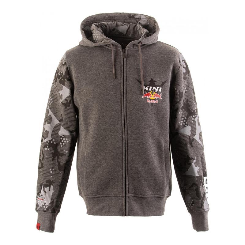 Sweat à capuche zipé Kini Red Bull urban camouflage/gris clair