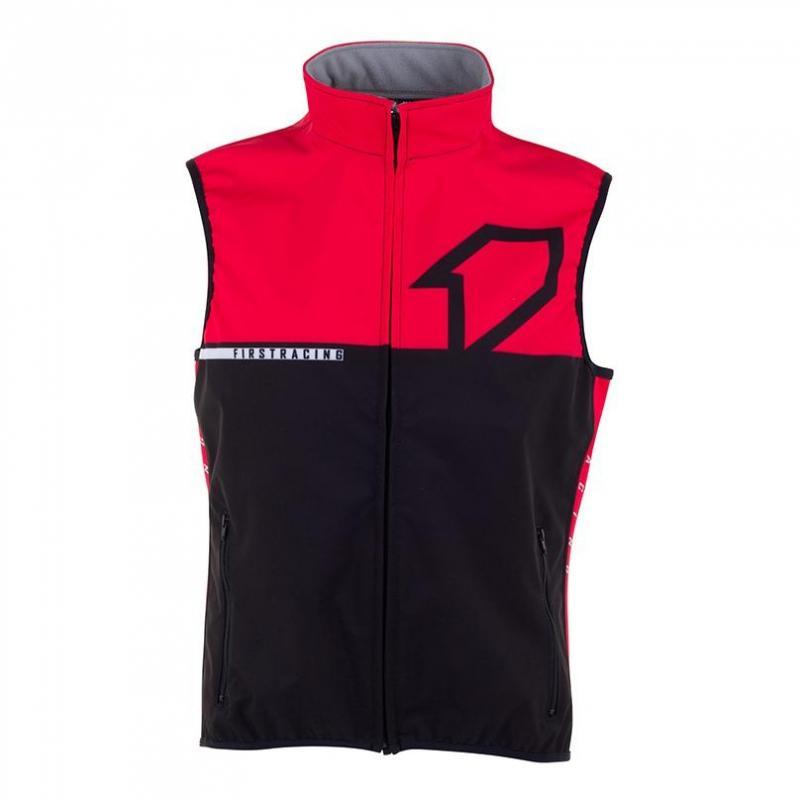 Veste sans manches First Racing Bodywarmer noir/rouge