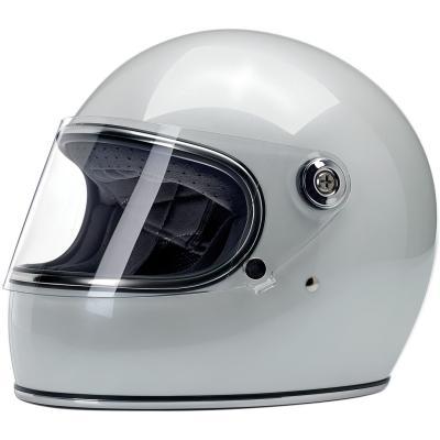 Casque intégral Biltwell Gringo S métallisé blanc