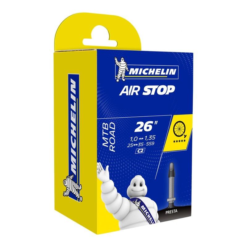 Chambre à air vélo Michelin Air Stop 26 x 1,00/1,35 C2 Presta 40mm