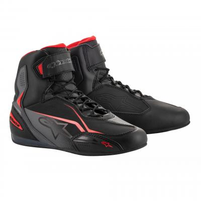 Chaussures moto Alpinestars Faster 3 noir/gris/rouge