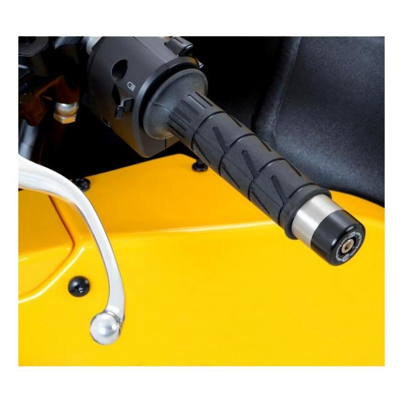 Embouts de guidon R&G Racing noir Aprilia RS 125 06-12