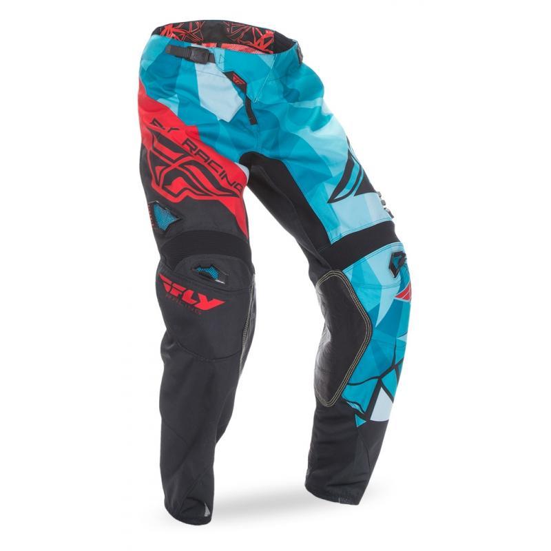 Pantalon cross enfant Fly Racing Kinetic Crux rouge/bleu