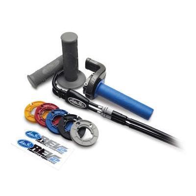 Kit poignée de gaz avec revêtements et câbles Motion Pro Rev2 pour Kawasaki KX 450 F 13-16