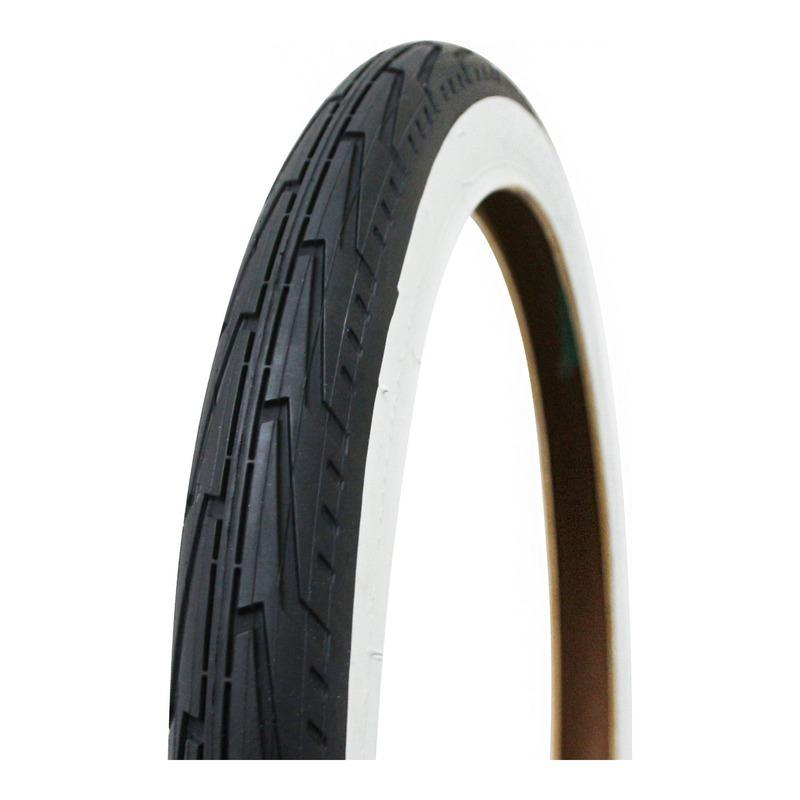 """Pneu vélo City Michelin City J Confort TR noir/flanc blanc (20 x 1.1/2"""")"""