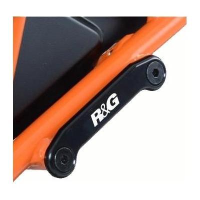 Caches orifices de repose-pieds passager R&G Racing noirs KTM RC 390 14-17
