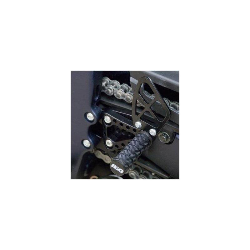 Commandes reculées R&G Racing noir Suzuki GSX-R 750 06-10